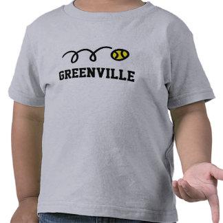 Camisetas del tenis de Greenville para las mujeres
