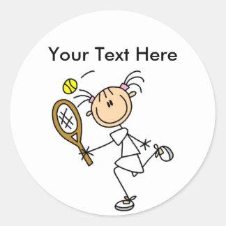 Camisetas del tenis de las mujeres personalizadas etiqueta