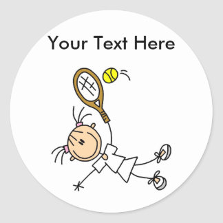 Camisetas del tenis de las mujeres personalizadas pegatina