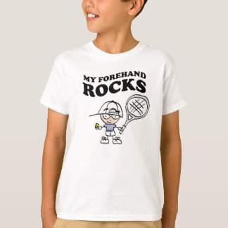 Camisetas del tenis para los niños con decir