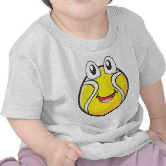 Camisetas del tenis - pelota de tenis sonriente fe