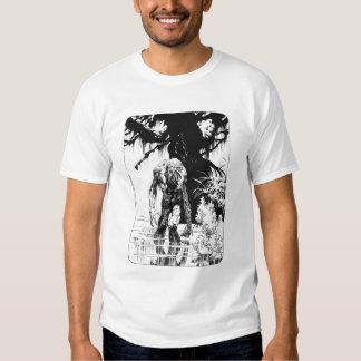 Camisetas del zombi del pantano polera