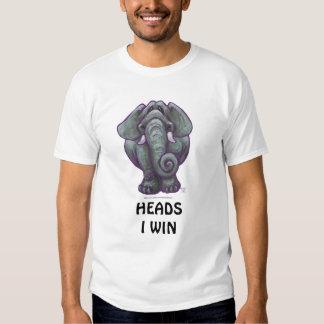 Camisetas divertidas de cabezas y de las colas del playera