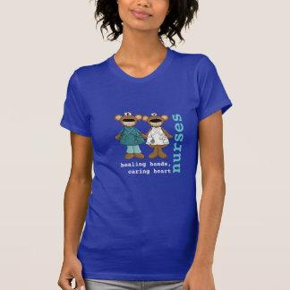 Camisetas divertidas de la enfermera de los osos d