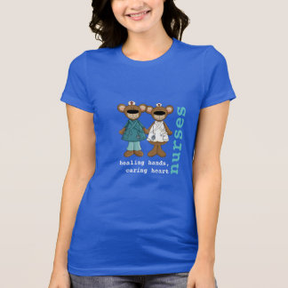 Camisetas divertidas de la enfermera de los osos polera