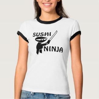 Camisetas divertidas de Ninja del sushi Poleras