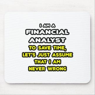 Camisetas divertidas del analista financiero alfombrilla de raton