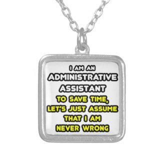 Camisetas divertidas del ayudante administrativo colgantes personalizados