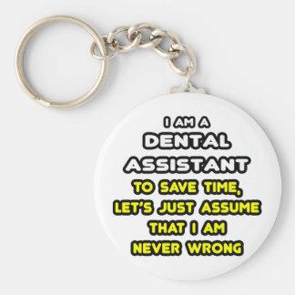 Camisetas divertidas del ayudante de dentista llavero redondo tipo pin