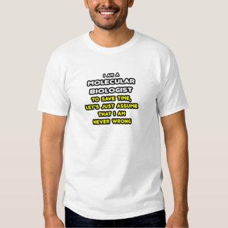 Camisetas divertidas del biólogo molecular playeras