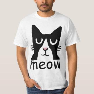 Camisetas divertidas del gato, gatito de la panda,