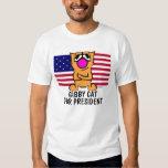 Camisetas divertidas del gato, gato de Gibby para Poleras