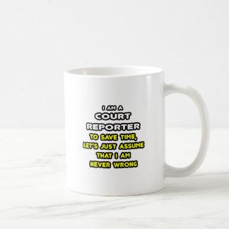 Camisetas divertidas del reportero de corte taza de café