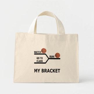Camisetas divertidas del soporte del baloncesto de bolsa de tela pequeña