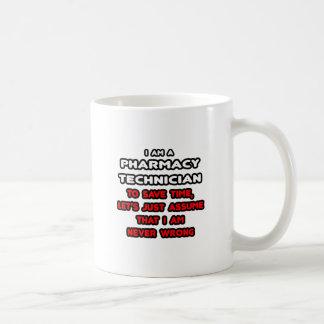Camisetas divertidas del técnico de la farmacia taza de café