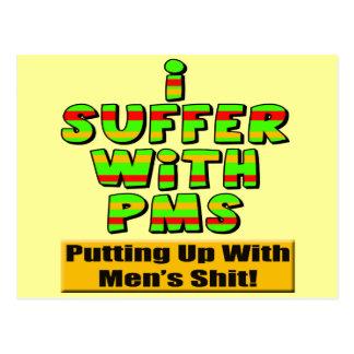 Camisetas divertidas y regalos de PMS para ella Postal