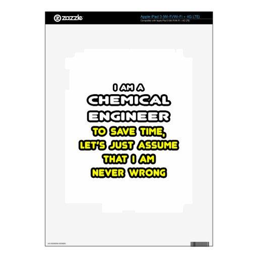 Camisetas divertidas y regalos del ingeniero quími iPad 3 skin