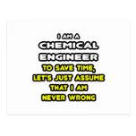 Camisetas divertidas y regalos del ingeniero quími tarjeta postal