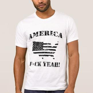 ¡Camisetas divertido AMÉRICA, F*CK SÍ! - apenado