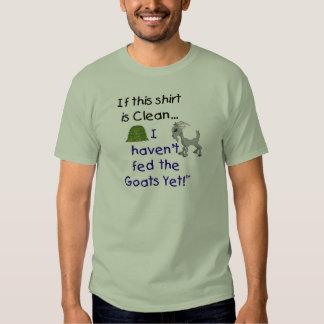 Camisetas divertido de la cabra playera