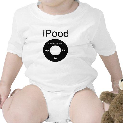 camisetas divertido del bebé del iPood