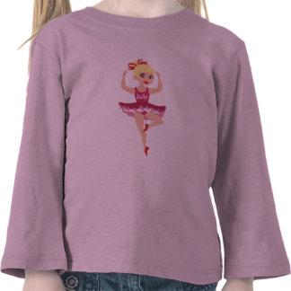 Camisetas dulces del desgaste de la danza de la ba