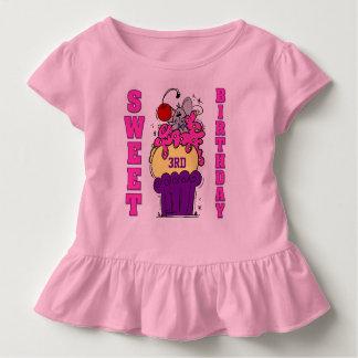 Camisetas dulces del personalizado del cumpleaños