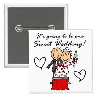Camisetas dulces y regalos de un boda pin
