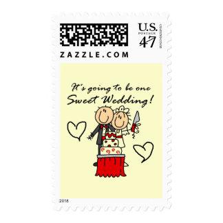 Camisetas dulces y regalos de un boda sellos