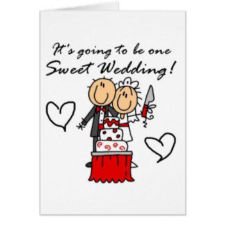 Camisetas dulces y regalos de un boda tarjeta de felicitación