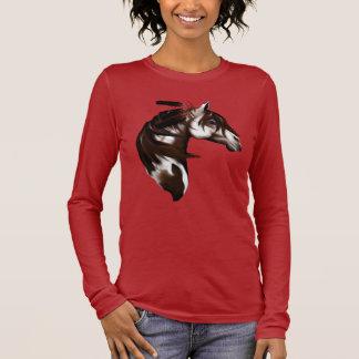 Camisetas emplumado del caballo de la pintura