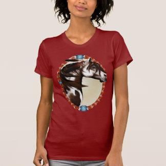 Camisetas emplumado del óvalo del caballo de la