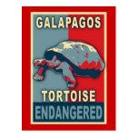 Camisetas en peligro del arte pop de la tortuga de postal