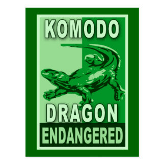 Camisetas en peligro del arte pop del dragón de Ko Tarjeta Postal