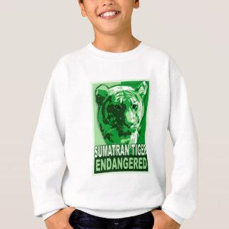 Camisetas en peligro del arte pop del tigre de