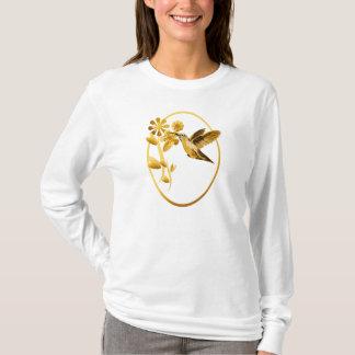 Camisetas enmarcado colibrí del oro