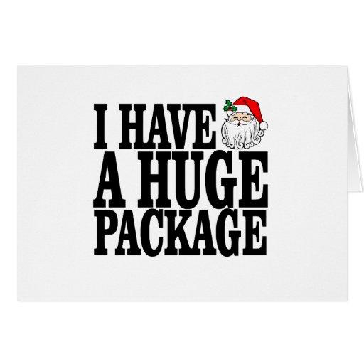 Camisetas enormes .png del paquete de Santas Tarjeta