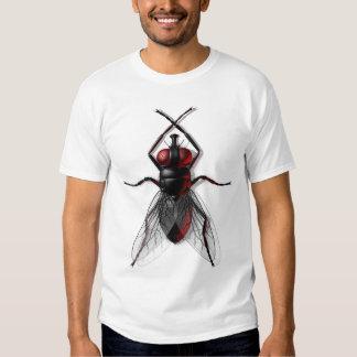Camisetas espeluznantes de la mosca poleras