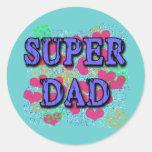 Camisetas estupendas del papá, sudaderas con pegatina redonda