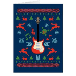 Camisetas feas del suéter de la roca tarjeta de felicitación
