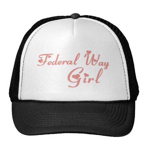 Camisetas federales del chica de la manera gorros bordados