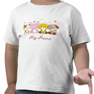 Camisetas felices adaptables del niño de los