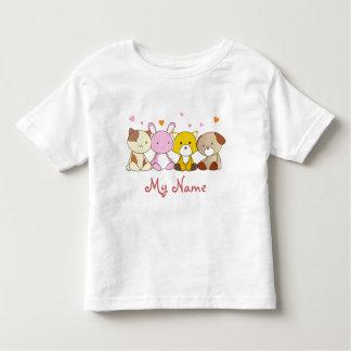 Camisetas felices adaptables del niño de los poleras