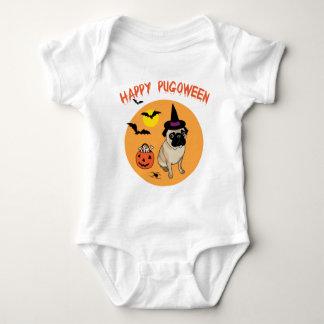 Camisetas felices de Pugoween para los niños y los Remera
