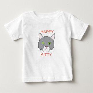 Camisetas feliz del bebé del gatito playeras