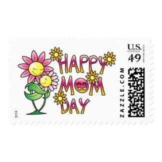 Camisetas feliz del día de la mamá sellos postales