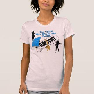 Camisetas (femenino) azul del casquillo del