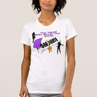 Camisetas (femenino) púrpura del casquillo del