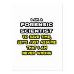Camisetas forenses divertidas del científico postales