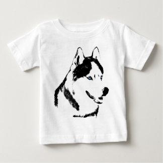 Camisetas fornidas del perro esquimal del niño del